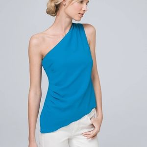 WHBM One Shoulder Bodice Top